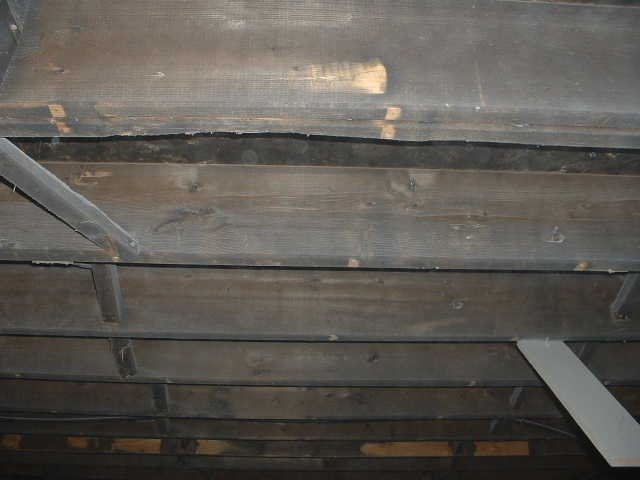 Fire & Smoke Cleaning - Interior Joists: Before