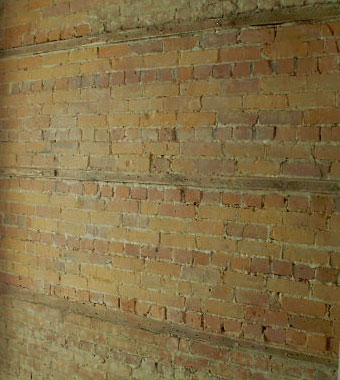 Interior Exposed Brick Cleaning: Before